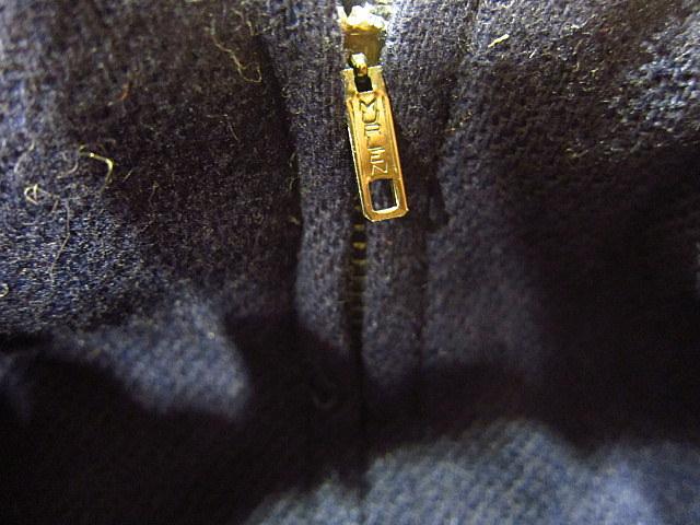 ビンテージ60's70's★DEADSTOCK Bobbie Brooksベルト付きウール台形スカート紺size7★50's80's古着屋卸レトロ_画像7