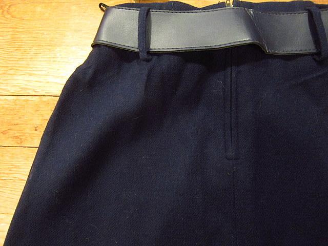 ビンテージ60's70's★DEADSTOCK Bobbie Brooksベルト付きウール台形スカート紺size7★50's80's古着屋卸レトロ_画像9