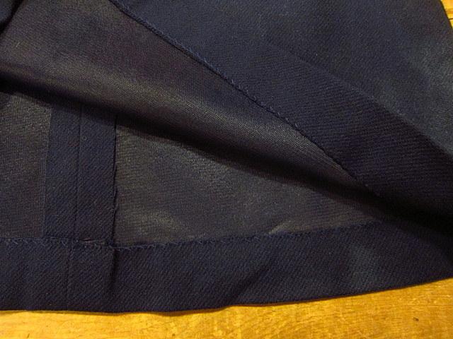 ビンテージ60's70's★DEADSTOCK Bobbie Brooksベルト付きウール台形スカート紺size7★50's80's古着屋卸レトロ_画像10