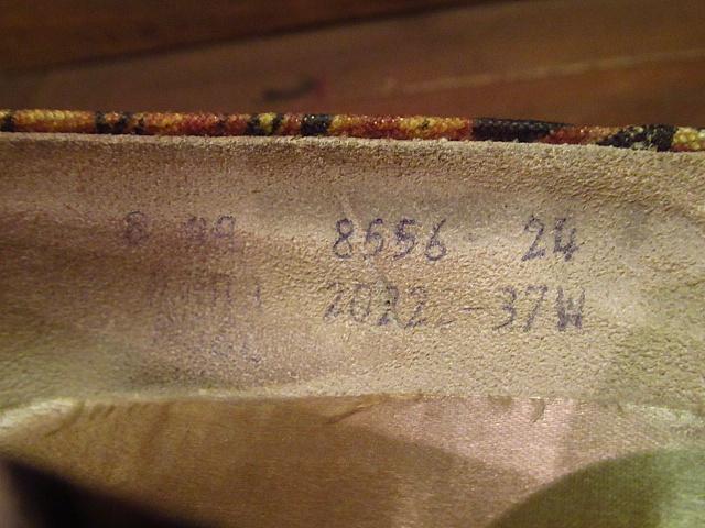 ビンテージ50's60's★Quali Craft花柄パンプス8AA★1950s1960sキャンバスハンドペイントレディース靴USA古着卸_画像9