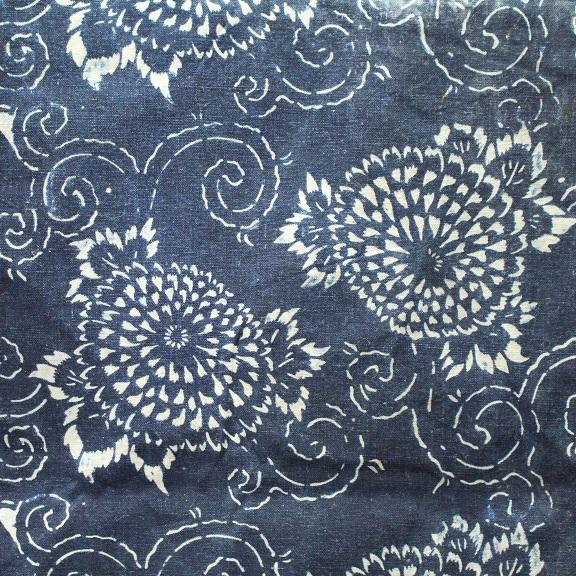 藍染 型染木綿 3幅 0429N15r_画像2
