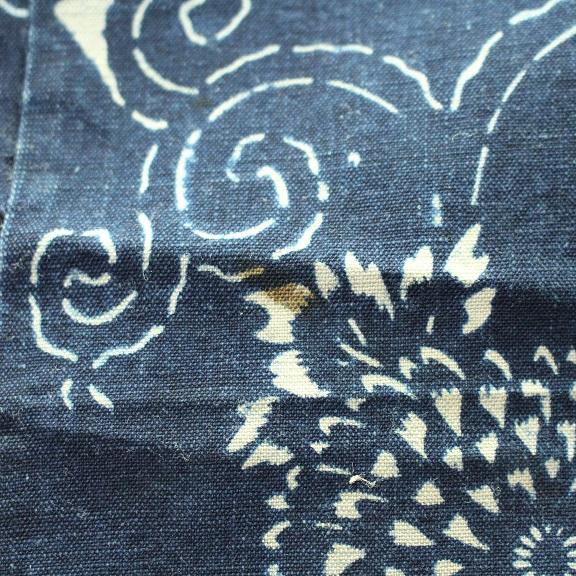 藍染 型染木綿 3幅 0429N15r_画像5
