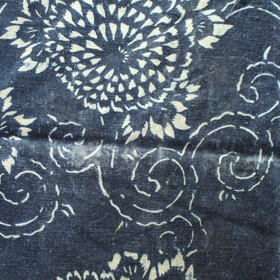藍染 型染木綿 3幅 0429N15r_画像6