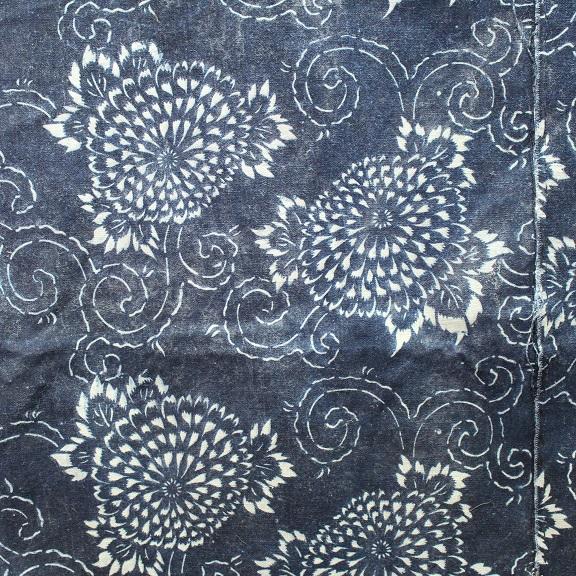 藍染 型染木綿 3幅 0429N15r_画像9