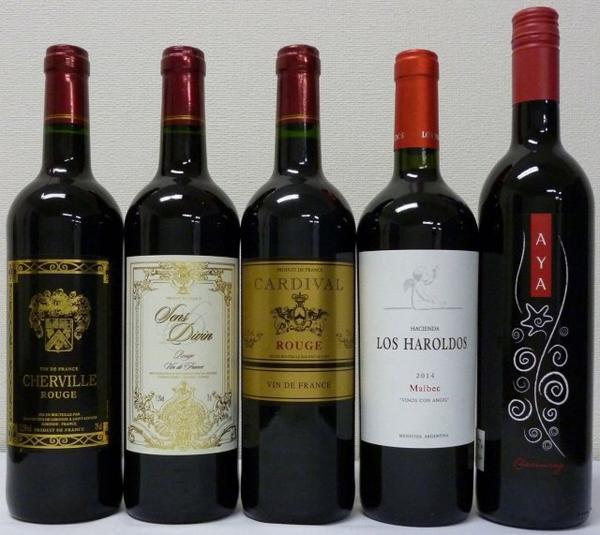 2セット セレクションセレクト 赤ワイン5本セット_画像1