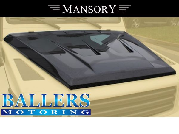 MANSORY BENZ W463 Gクラス エアロボンネット Visible Carbon ( フロント 外装 ダクト エンジンフード )_画像1