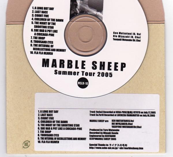 CD-R/MARBLE SHEEP / Summer Tour 2005_画像2