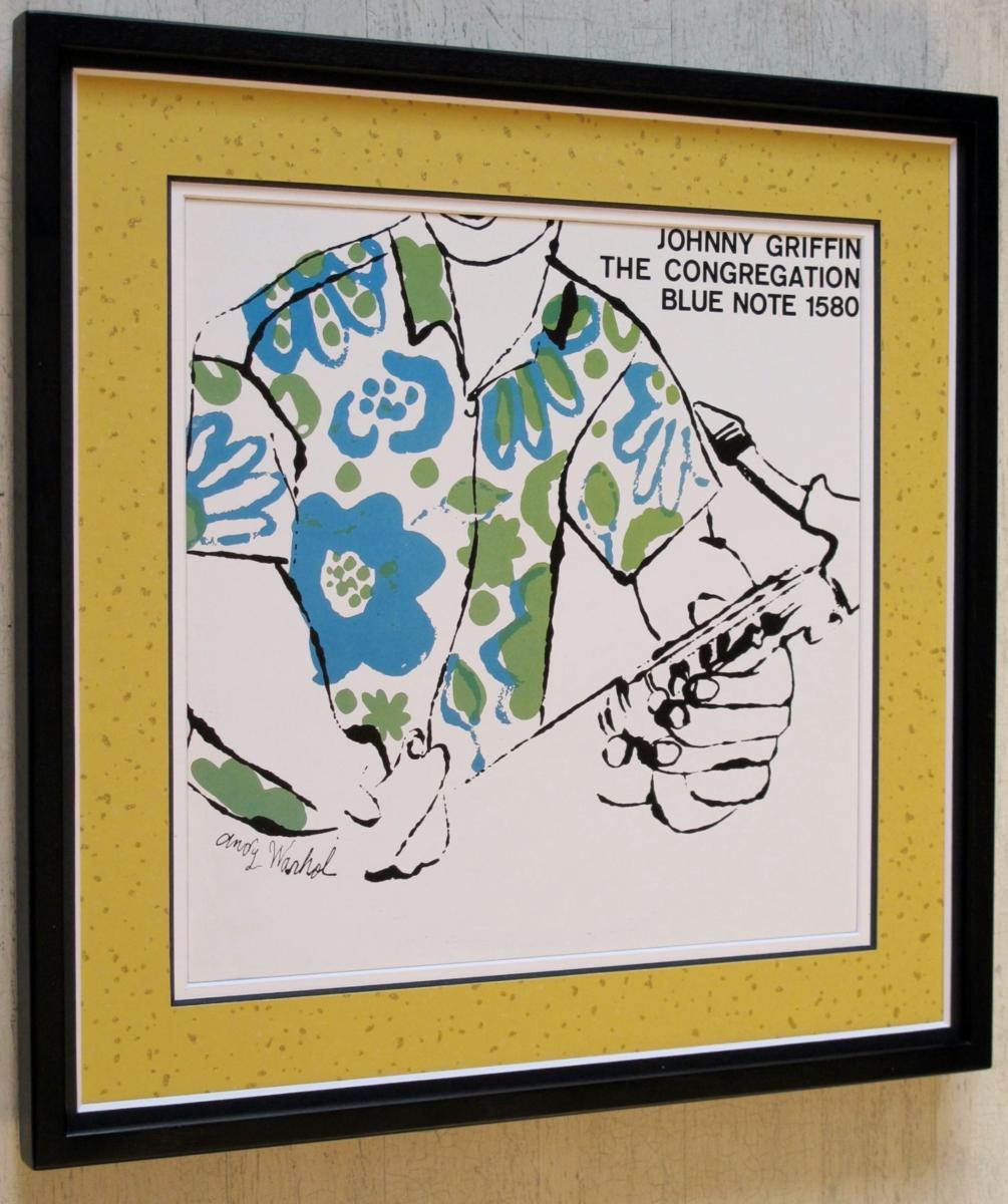 Johnny Griffin/名盤レコジャケ ポスター額装/ジョニー・グリフィン/ジャケ買い額入り/アンディ・ウォーホル額入り/warhol/ブルーノート