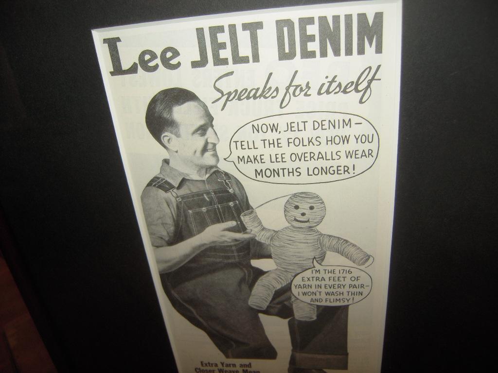 ★貴重★1935年★USA★LEE★OVERALLS★JELT DENIM★THE H.D.LEE MERCANTILE COMPANY 時代★広告額装品★リー★84年前★_画像3
