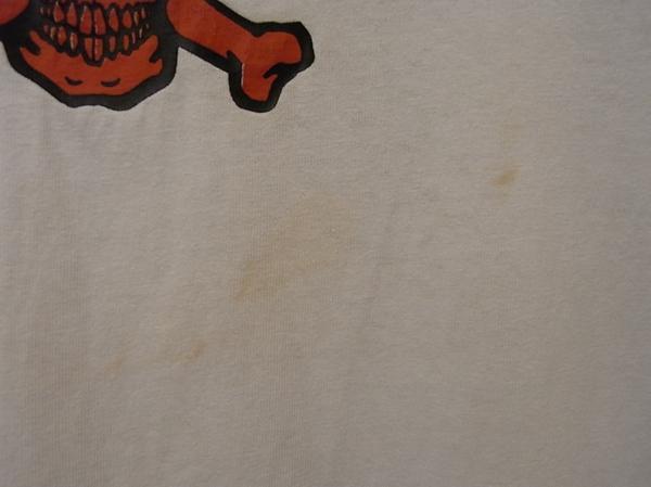 90'S MADE IN USA THRASHER スカル プリント 半袖 Tシャツ SIZE M スラッシャー スケート_画像6