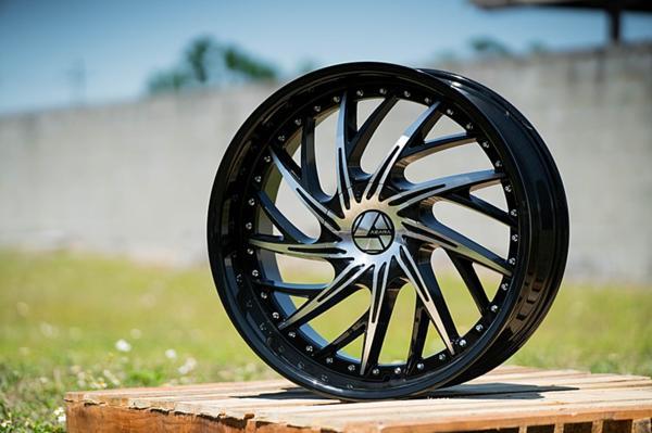 22インチ AZARA アザラ 516B ブラックマシンド ホイール 22x8.5J /9.5J タイヤセット 5穴 6穴 チャージャー エスカレード ナビゲーター_画像1
