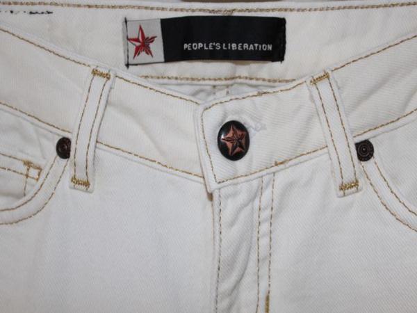 ピープルズリベレーション People's Liberation レディースデニムパンツ ジーンズ 25インチ ホワイト 新品_画像3