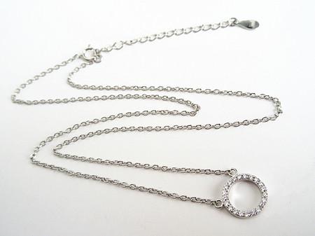 新品 ダイヤモンド ミニリング ネックレス_画像5