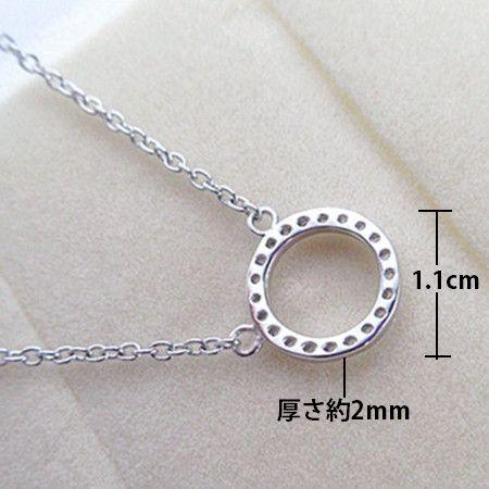 新品 ダイヤモンド ミニリング ネックレス_画像3