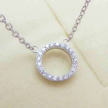 新品 ダイヤモンド ミニリング ネックレス_画像1