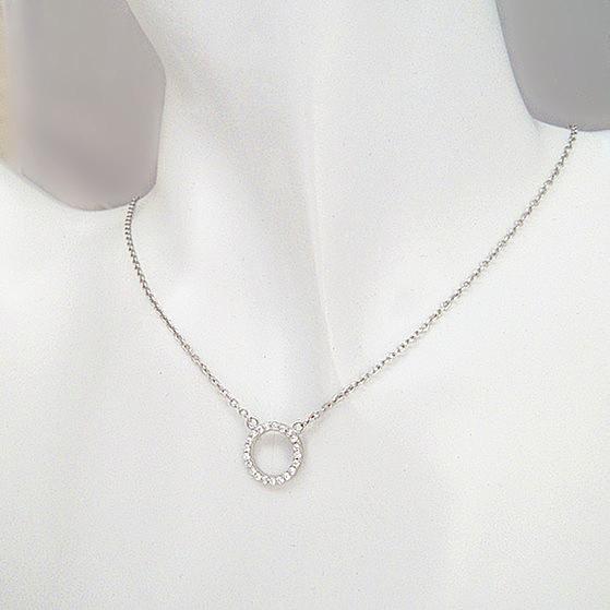 新品 ダイヤモンド ミニリング ネックレス_画像6