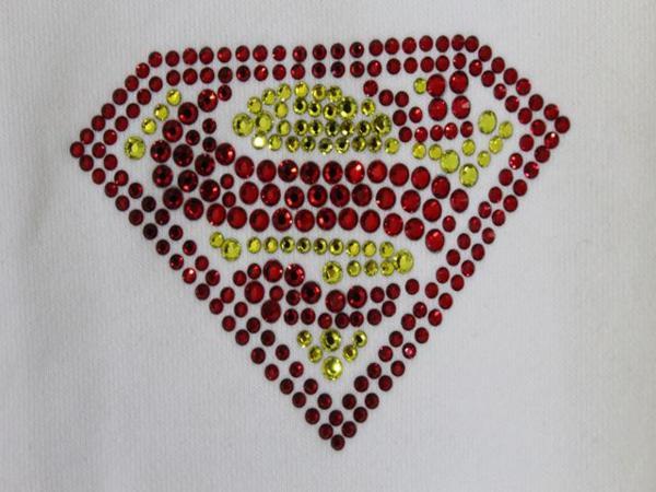 サディスティックアクション SADISTIC ACTION スーパーマン レディース トラックジャケット ホワイトxシルバー_画像3