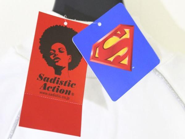 サディスティックアクション SADISTIC ACTION スーパーマン レディース トラックジャケット ホワイトxシルバー_画像6