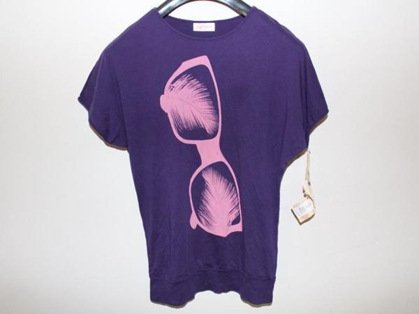 キャメロンハワイ Cameron Hawaii レディース半袖Tシャツ パープル Mサイズ 新品_画像1