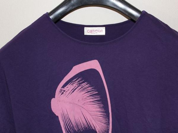 キャメロンハワイ Cameron Hawaii レディース半袖Tシャツ パープル Mサイズ 新品_画像2