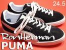 N3928R55▼ロンハーマン×プーマ スエード スニーカー 24.5▼rb