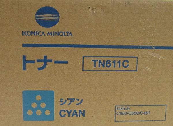 3★コニカミノルタ 純正トナー TN611C シアン(^CTNC_画像2