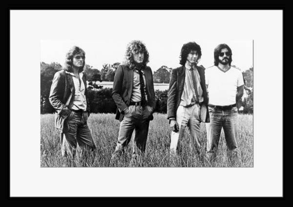 BW:UK人気ロックバンド/レッド・ツェッペリン/.Led Zeppelin/モノクロ写真フレーム-4