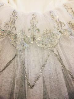 送料無料♪大人Lバレエ舞台衣装♪白いお姫様系♪8層チュチュ♪L_画像3