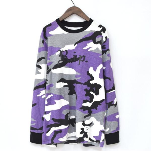 【16AW・16FW】Supreme シュプリーム R.I.P. L/S Tee Purple Camo パープルカモ 迷彩 M 長袖Tシャツ