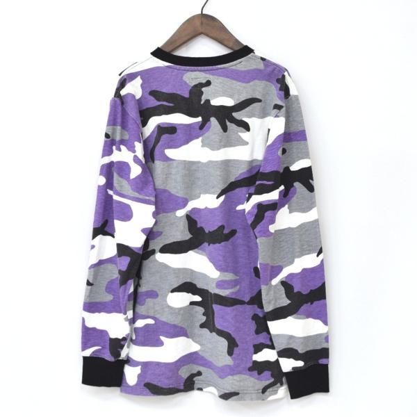【16AW・16FW】Supreme シュプリーム R.I.P. L/S Tee Purple Camo パープルカモ 迷彩 M 長袖Tシャツ_画像2