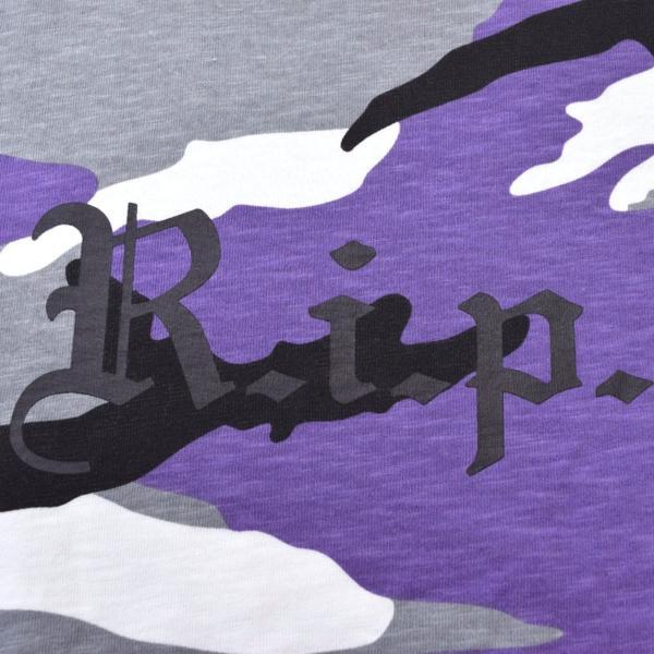 【16AW・16FW】Supreme シュプリーム R.I.P. L/S Tee Purple Camo パープルカモ 迷彩 M 長袖Tシャツ_画像6