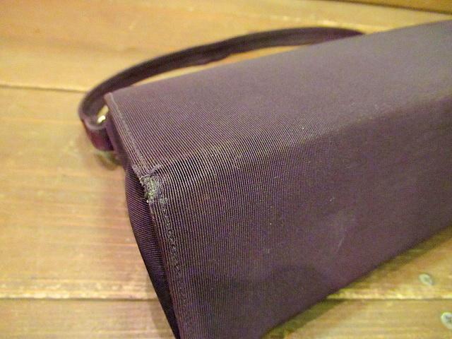 ビンテージ40's50's★ハンドイブニングバッグ 紫★30's60'sカバンレディースパーティー衣装古着卸_画像4