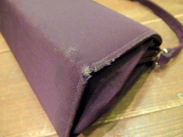 ビンテージ40's50's★ハンドイブニングバッグ 紫★30's60'sカバンレディースパーティー衣装古着卸_画像5