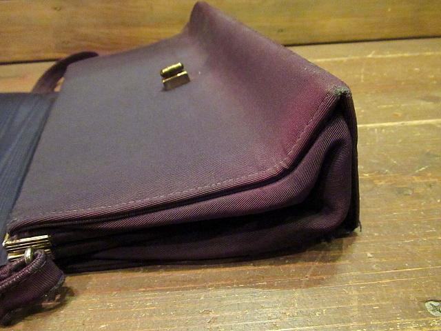 ビンテージ40's50's★ハンドイブニングバッグ 紫★30's60'sカバンレディースパーティー衣装古着卸_画像9