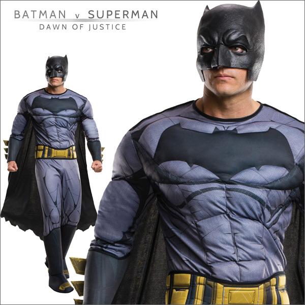 送料無料★バットマンvsスーパーマン 大人用デラックスバットマン 810926■ハロウィン衣装 コスプレ コスチューム 映画キャラクター グッズの画像
