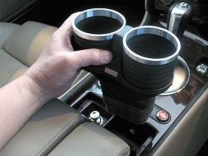 【M's】ベントレー コンチネンタルGT/フライングスパー(2003y-2010y)ALCABO 高級 ドリンクホルダー(BK+リング)/GTC GTスピード AL-B201BS_※画像はブラック+リングの取付けサンプル