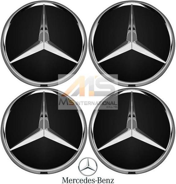 【M's】ベンツ AMG 純正品 ホイールセンターキャップ 4個 BK/CR(74mm)W169 W176 W245 W246 W203 W204 W205 W163 W164 W251 R170 R171 R172_画像1