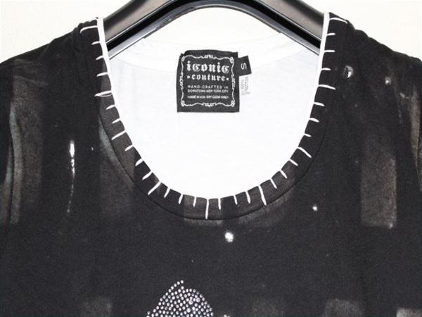 アイコニック ICONIC マイケルジャクソン レディース半袖Tシャツ ブラック Sサイズ 新品_画像2