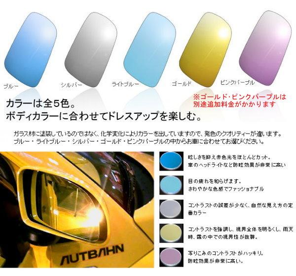 マセラティ AUTBAHN アウトバーン 日本製 Made in Japan 広角ワイド ドレスアップ ドア ミラー レンズ 左右1台分セット _画像3