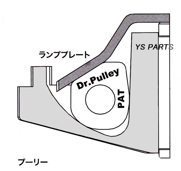 複数注文可能★【正規品】ドクタープーリー15×12角型6.5g BW'S50[3AA/5DA]アクシス50[3VP]ジョグ80/VOX[3B3]/ボックス/ビーノ[13P]_画像3