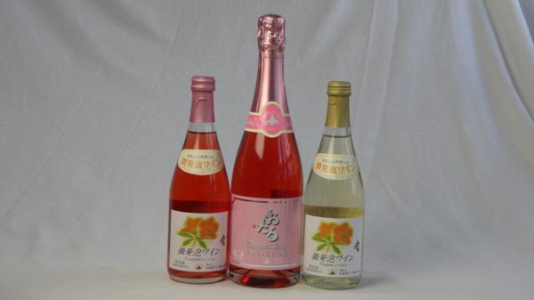 国産甘口スパークリングワイン3本セット(おたる 微_画像1