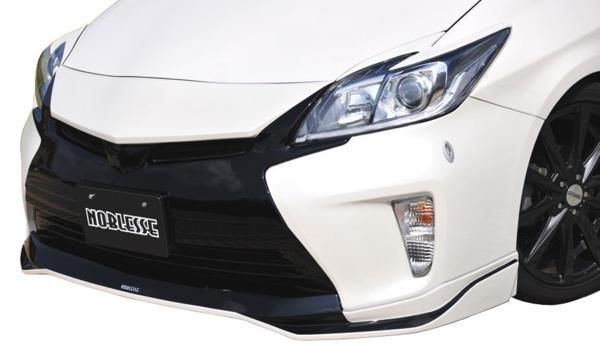 【M's】プリウス 30 後期 アイライン ABS製 ブラック(202)塗装済 トヨタ TOYOTA PRIUS ヘッドライト ガーニッシュ ZVW_画像2