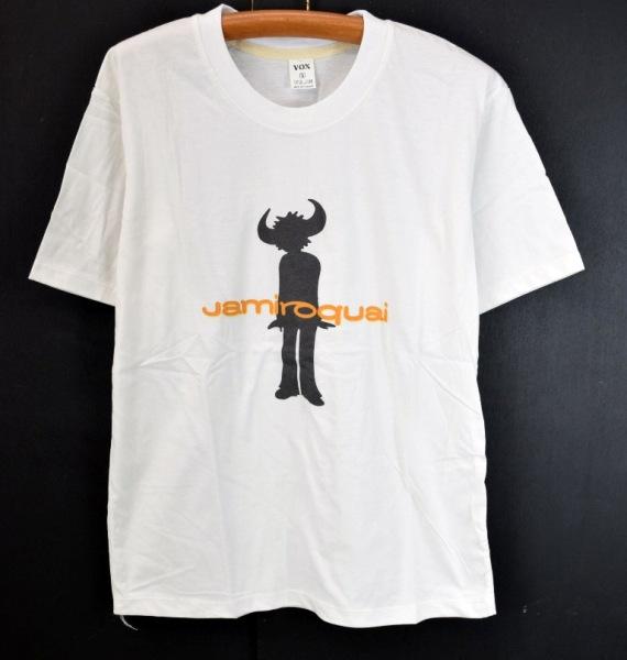 メール便可 Jamiroquaiジャミロクワイ バンドプリント半袖Tシャツ S 白 未使用 激安♭【BIG2nd大阪店】【170314】【メンズ】mts955