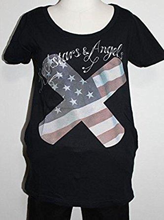 ロックスターズエンジェルス Rockstars&Angels レディース半袖Tシャツ 日本サイズS ブラック 新品 黒_画像1