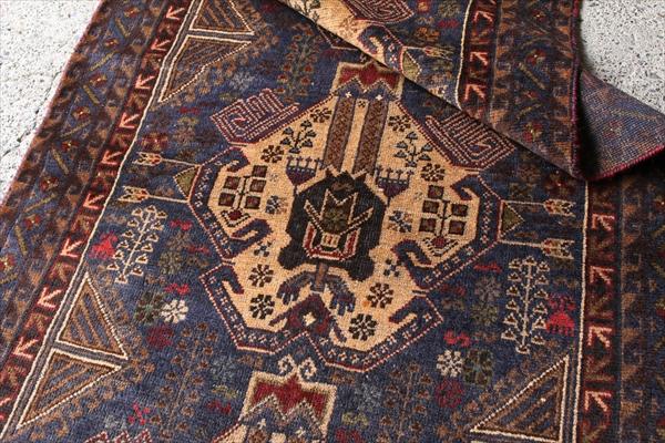 バルーチの代表作 手織り絨毯 198㎝ アンティーク家具 ラグ アフガニスタン産 ビンテージ マジックカーペット インテリア アフガンGBRL6622
