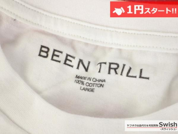 A895●Been Trill ビーントリル●新品 TEE モザイク Tシャツ L 白●_画像6