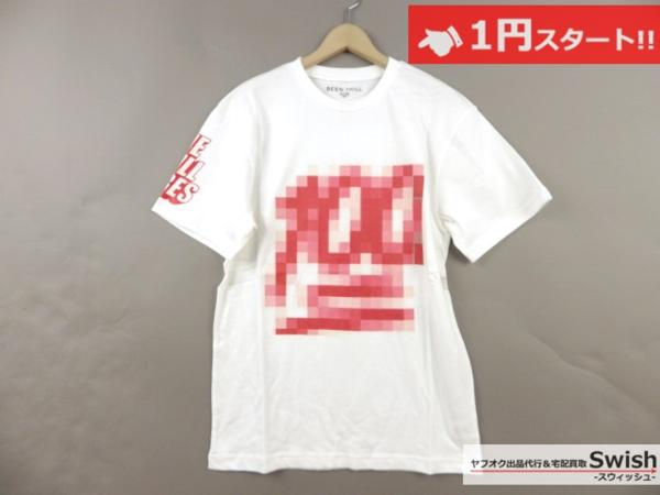 A895●Been Trill ビーントリル●新品 TEE モザイク Tシャツ L 白●