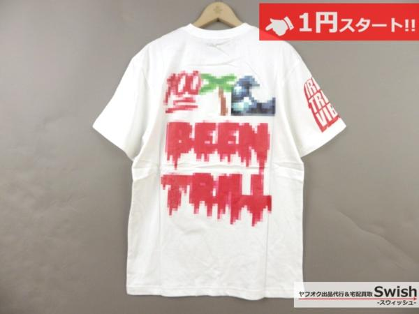 A895●Been Trill ビーントリル●新品 TEE モザイク Tシャツ L 白●_画像4