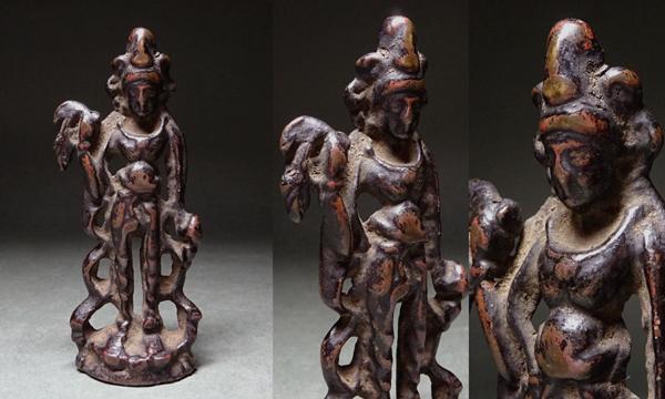 慶應◆中国仏教文物 古銅釈迦如来立像小仏 10cm