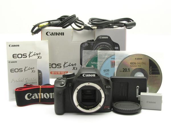 ★ハロ-カメラ★5173 Canon EOS Kiss X3 ボディ(1510万画素/SD.SDHC) CD、説明書付き 動作品